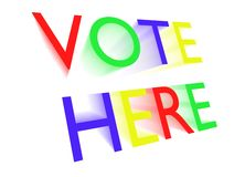 Vote here Stock Photo