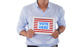 Vote here Stock Photography