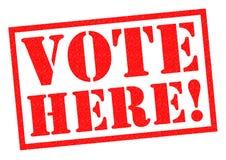 VOTE HERE! Stock Photography