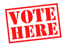 VOTE HERE Royalty Free Stock Photo