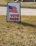Vote here roadside sign royalty free stock image