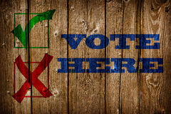 Vote here. Royalty Free Stock Photography