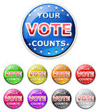 Vote icon. Isolated on white Royalty Free Stock Images