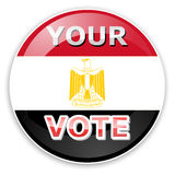Vote icon with egypt flag Royalty Free Stock Image