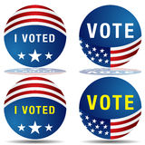 Vote Icon Set Stock Photo