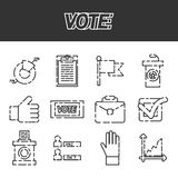 Vote icons set Royalty Free Stock Image