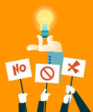 Vote for the idea. Vector illustration Royalty Free Stock Photo