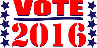 Vote 2016. Illustration or web icon for the American vote Royalty Free Stock Photo