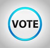 Vote Round Blue Push Button vector illustration