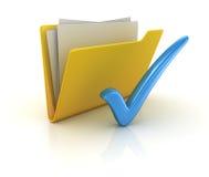 Vote jaune de dossier Photos libres de droits