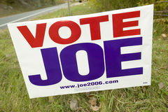 Vote for Joe Lieberman for U.S. Senate sign in Connecticut Royalty Free Stock Images