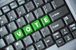 Vote on keyboard Royalty Free Stock Photos