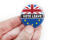 Vote Leave Badge Royalty Free Stock Photo