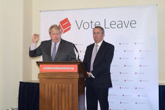 Vote Leave event 13. England, Bristol - 14 May 2016: Vote Leave event Boris Johnson and Liam Fox 13 Royalty Free Stock Photo