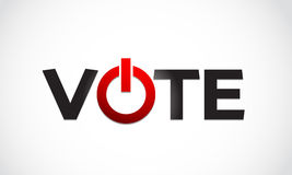 Vote letter with power sign Royalty Free Stock Image