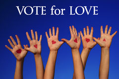 Vote for love Royalty Free Stock Image