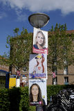 VOTE FOR LOVE PARTY AMONG ELECTIONS POSTERS Royalty Free Stock Photos