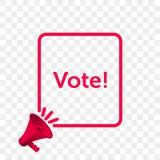 Vote message quote megaphone vector icon stock illustration