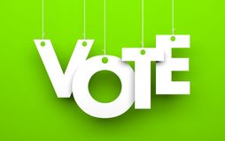 Vote metaphor Royalty Free Stock Photography