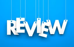 Review. Text on the string Royalty Free Stock Photography