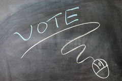Vote and mouse symbol Stock Photos
