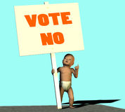 Vote no Stock Images