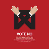 Vote No. Vote No Sign Vector Illustration Royalty Free Stock Photos