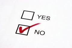 Vote No Stock Image