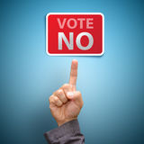Vote no. Concept with finger point royalty free stock photo
