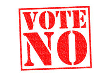 VOTE NO. Red Rubber Stamp over a white background vector illustration