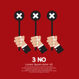 Vote No. Sign Vector Illustration Royalty Free Stock Images