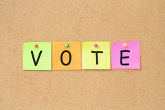 Vote Notice Royalty Free Stock Photos