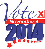 Vote November 4, 2014. Election 2014 for United States Senate and Congress and other state offices is Tuesday November 4. This graphic urges you to vote Stock Photos