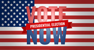 Vote now presidential election symbol america USA Royalty Free Stock Photography