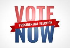 Vote now presidential election symbol america USA Stock Image