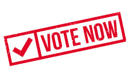 Vote Now rubber stamp Royalty Free Stock Images