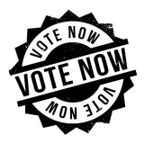 Vote Now rubber stamp Royalty Free Stock Photos