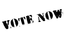 Vote Now rubber stamp Stock Photo