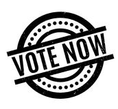 Vote Now rubber stamp Royalty Free Stock Photo