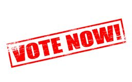 Vote now. Rubber stamps with text vote now inside,  illustration Royalty Free Stock Image