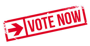 Vote now stamp Royalty Free Stock Photography