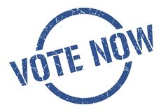 vote now stamp royalty free stock photo