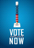 Vote now. 2016 USA presidential election campaign. Stock Photography