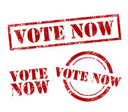 Vote Now Vector Stamp Set Stock Images