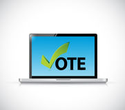 Vote online computer concept illustration design Stock Photos
