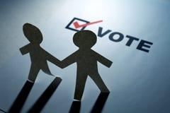 Vote and Paper Chain Men Stock Image