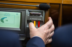 Vote in the Parliament of Ukraine Stock Photography