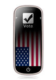 Vote Phone Royalty Free Stock Photo