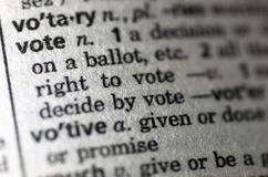 Vote pictured in the dictionary Stock Photos