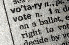 Vote pictured in the dictionary Royalty Free Stock Photography